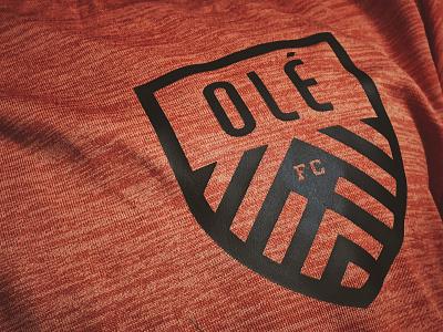 OLÉ Jersey brand athletic fc badge shield crest logo apparel jersey futbol soccer ole