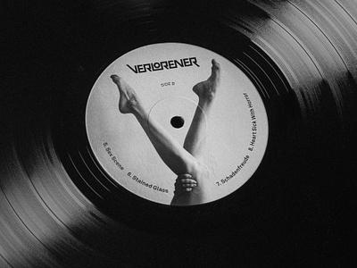 Verlorener Vinyl Label label track legs logotype music record vinyl type brand identity logo