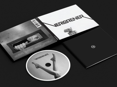 Verlorener CD cd cover album logotype brand identity logo verlorener