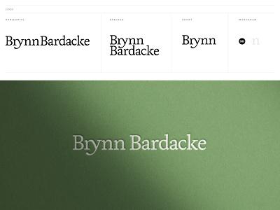 Brynn Bardacke Identity ligature name branding livory type logotype brand mark identity logo