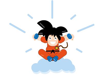 son goku saiyan dragonball goku son goku cartoon illustration design ai
