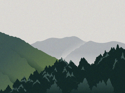 Pines & mountains wandering vector illustration outdoor magazine adventure wildlife mountains nature illustration nature art artwork