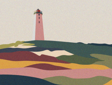 Icelandic lighthouse editorial illustration artwork outdoor journey travel architecture nature adventure illustration lighthouse iceland