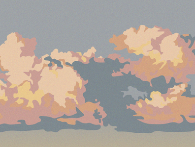 In the clouds instagram post sunset in the sky calming landscape design vector illustration artwork poster press illustration landscape illustrator color clouds nature illustration illustration