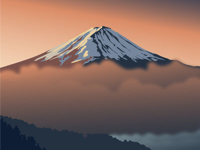 Mount Fuji - travel illustration fuji editorial illustration adventure landscape vector illustration dream journey travel planet earth nature adobe illustrator illustration illustrator mount fuji