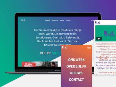 Bijl PR — Website and branding ui ux website design branding