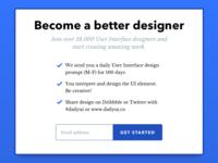 Dailyui100 Redesign Daily Ui Landing Page