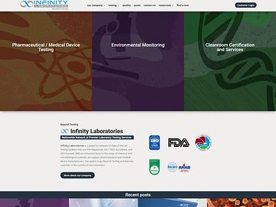 Infinity Laboratories wordpress website design