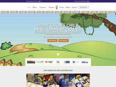 Hope Grows Child Development Center wordpress website design