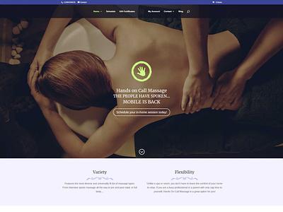 Hands on Call Massage wordpress website design