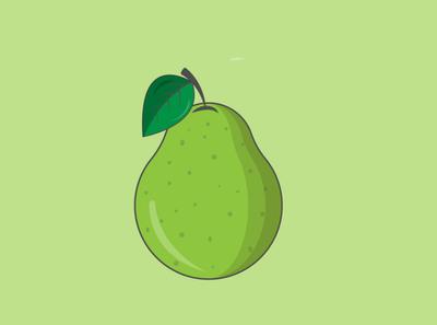 Guava vector art flat illustration illustrator minimal design