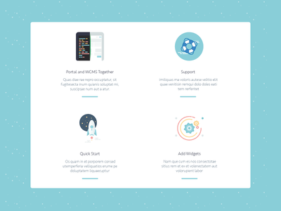 Icons portal widgets icons development web design training university cover fronted backend flat