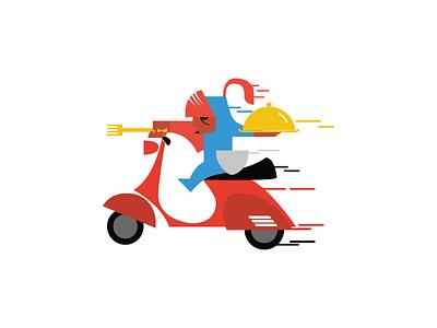 Foodsquire vespa psd color design icon flat illustration ai logo foodsquire squire food