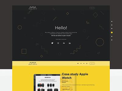 Personal Website  case study ui ux free psd personal design color flat logo website mauro