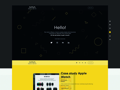 Personal Website  case study ui ux free psd personal design color flat logo website mauro