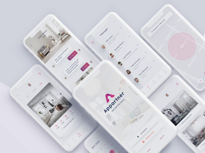 Appartner App ux ui clean interface minimal animation mp4 app ios mobile appdesign icons video color interaction user experience ui animation motion design mobile app design trend