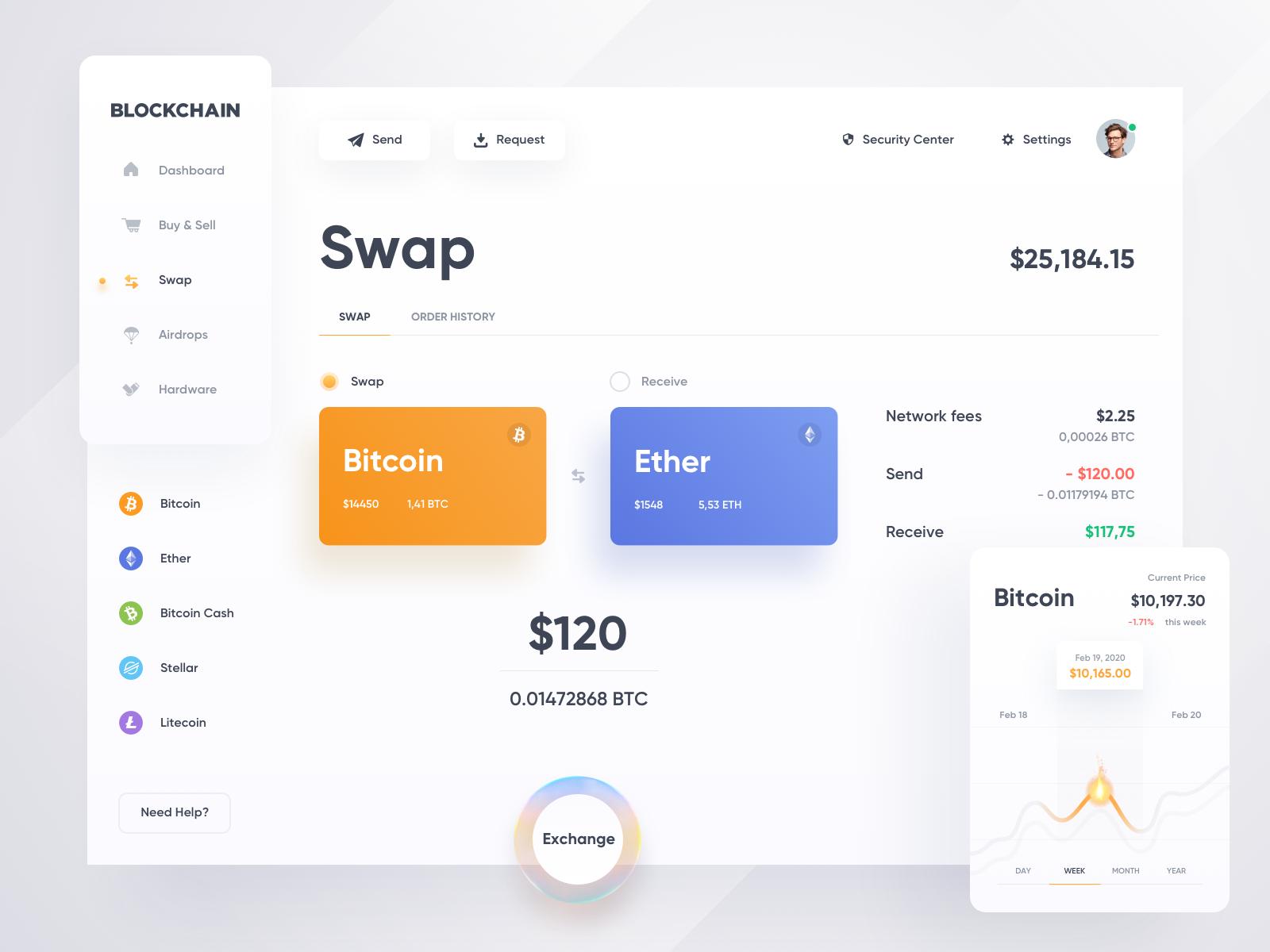 Blockchain — Swap ☀️ Light Mode ☀️