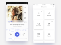 Podcasts App  —  Player & Categories