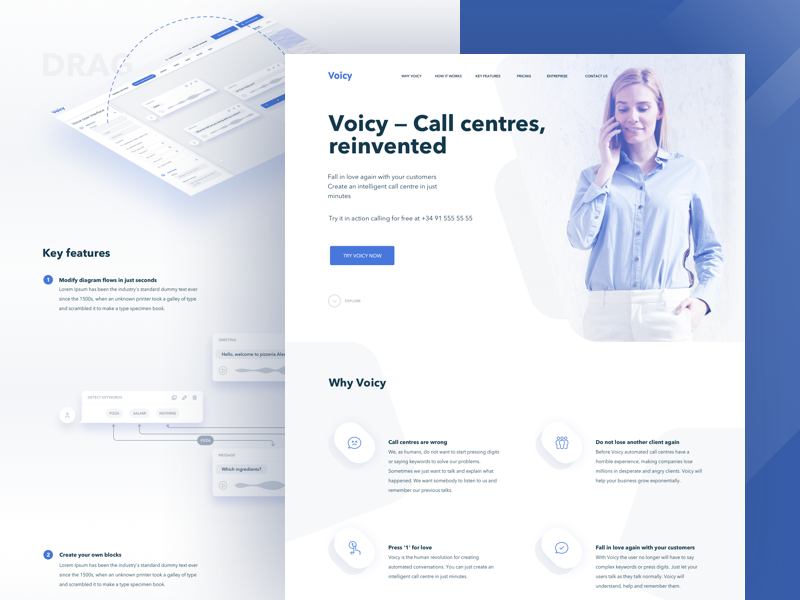 Voicy Landing Page