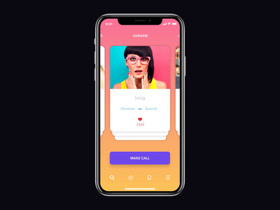 Translation App. Gallery Interaction video ui ux interface clean flat animation mobile dark inspiration motion application app interaction translation mp4 user card card gallery light