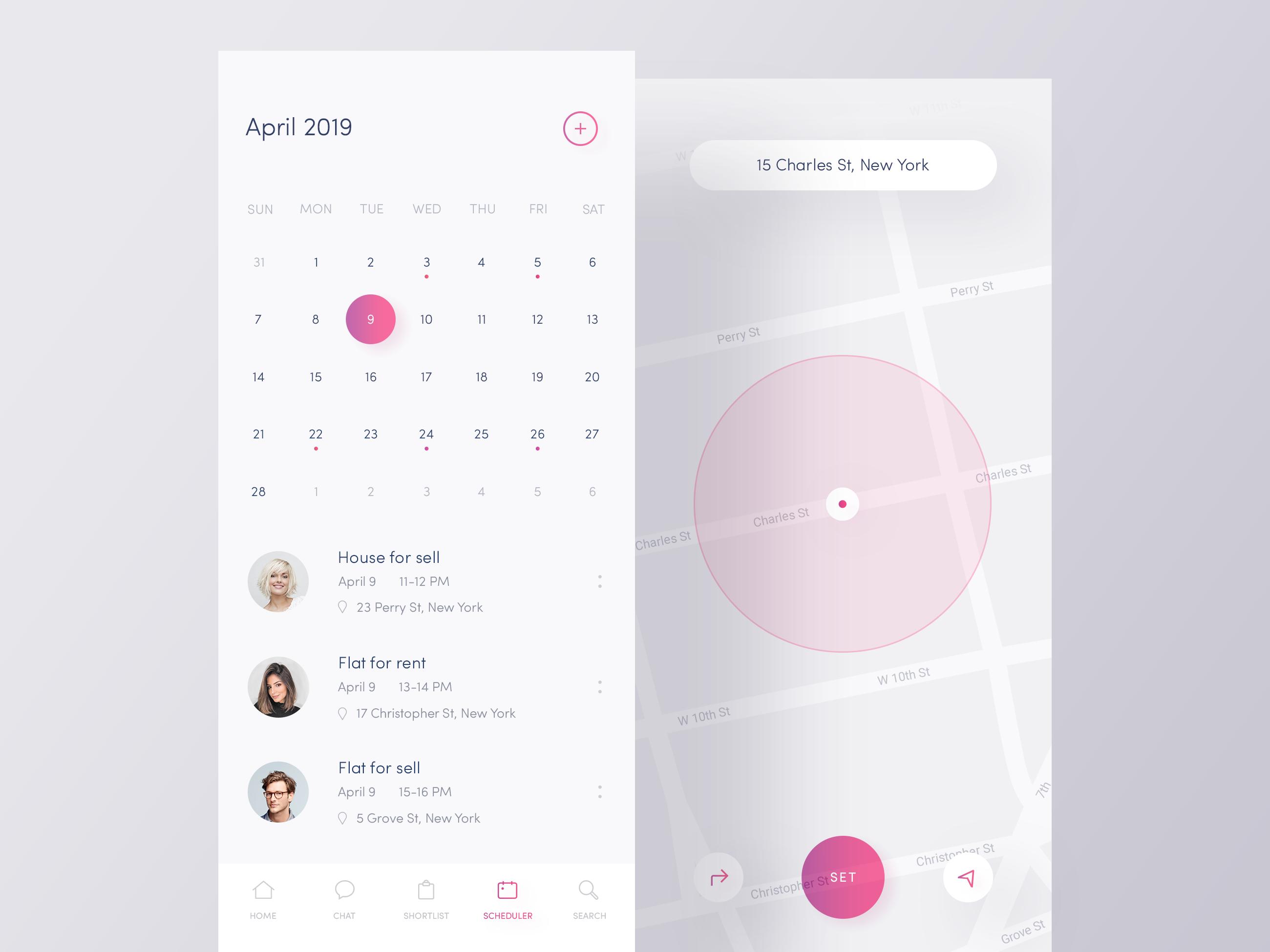 Scheduler App ☀️ Light Mode ☀️