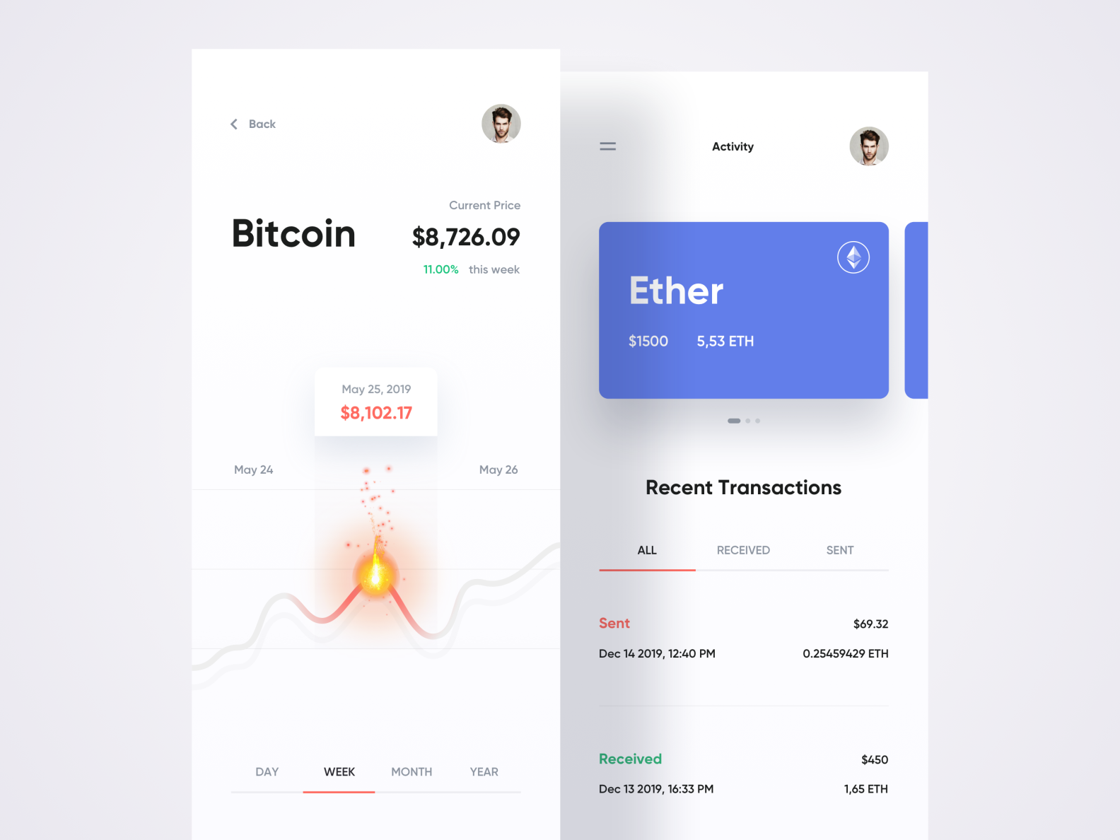 Cryptocurrency Wallet ☀️ Light Mode ☀️