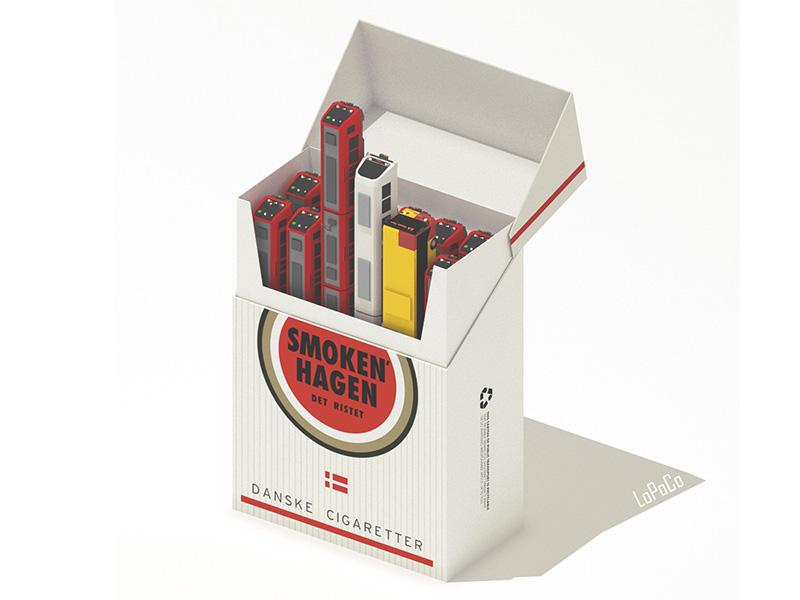 Smokenhagen isometric copenhagen smokes carton trains cigarettes denmark luckies. low poly toasted smokenhagen