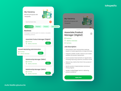 Tokopedia Career Mobile App ux ui