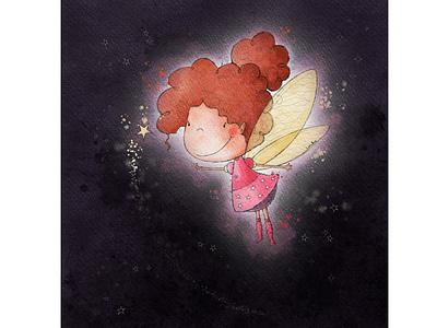 Fairy in Pink socks socks magic fairy greeting card greeting card design kids illustration character design book illustration procreate digitalart illustration digital illustration