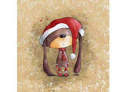 Christmas Ears santa claus christmas animal illustration greeting card greeting card design kids illustration character design book illustration procreate digitalart illustration digital illustration
