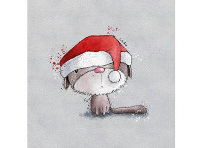 Christmas Cat in a hat cat christmas card christmas kitty cat animal illustration greeting card greeting card design kids illustration character design book illustration procreate digitalart illustration digital illustration
