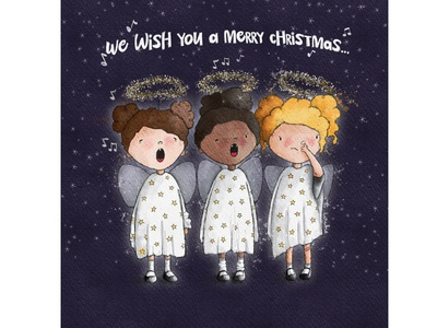 Carol Concert carols christmas nativity watercolour illustration greeting card greeting card design kids illustration character design book illustration procreate digitalart illustration digital illustration