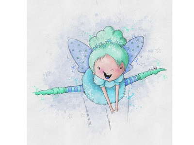Winter Fairy cute character fairy flying fairies winter watercolour illustration greeting card design kids illustration character design book illustration procreate digitalart illustration digital illustration