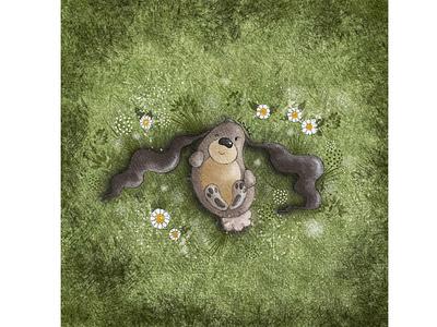 Just chilling summer chilling ears bunny kids illustration character design book illustration procreate digitalart illustration digital illustration