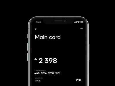 Yelo Banking App – Home screen wallet app online bank mobile fintech app fintech finance banking app banking
