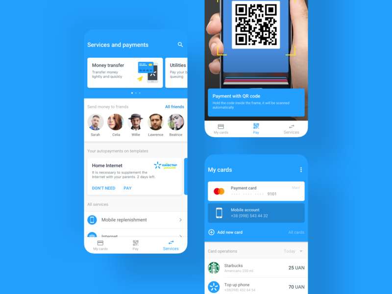 QR payments – Scan to Pay by Visa mobile payments b2c b2b payments uxui telecom telco mobile ui mobile design mobile app design mobile app mobile