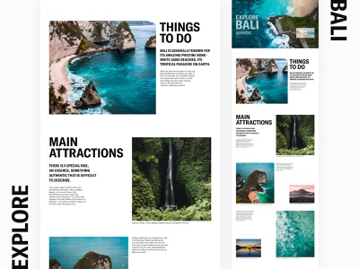 Intravel | Explore Bali indonesia traveling travel and tourism tourism home screen first page landing page trave agency tours bali travel layout dailyui design webdesign ui