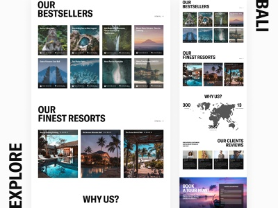 Intravel | Explore Bali indonesia white space bali travel agency resourts bestcellers cards reviews agency tourism main page first page landing page tours traveling travel design webdesign ui