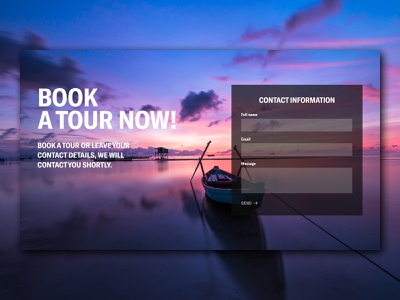 Intravel | Contact form agency travel agency tourism indonesia contact details form contact form tours traveling bali design webdesign ui
