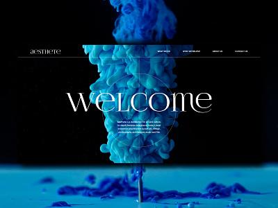 Aesthete | First screen main screen first screen dailyui design webdesign ui