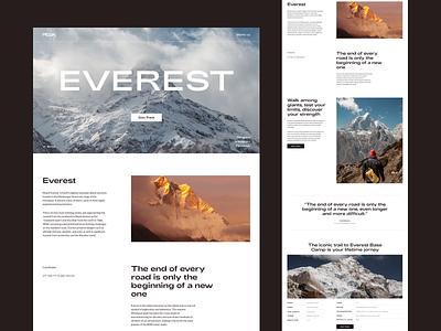 Everest | Landing page travel tours travel agency landing page everest tracks tours first screen dailyui design webdesign ui