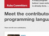 Another shot from rubycommiters