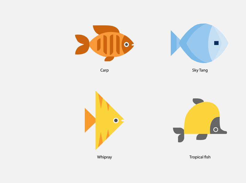 fish vector art fish vector logo app vector design illustraion biology