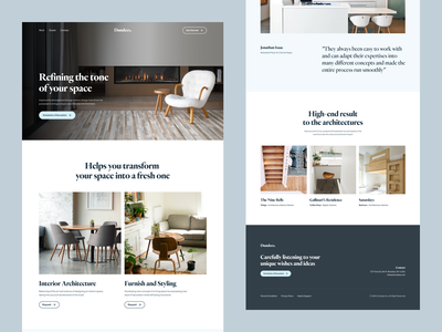 Interior Design Agency - Website Concept furniture agency interior web design design website landing page clean minimal ui