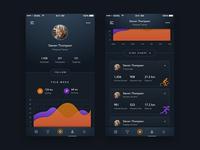 Sport Tracking App - Profile