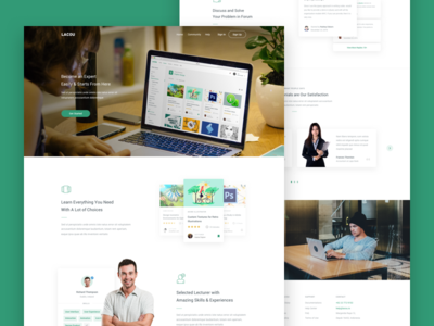 Lacou - Landing Page study learn landing page class skill course minimal clean app dashboard ux ui