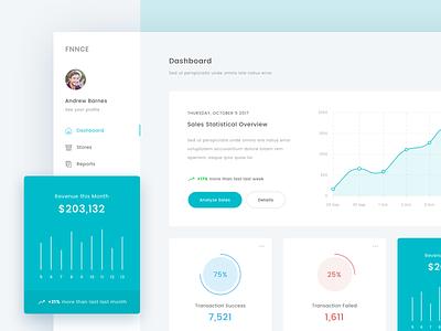 FFNCE - Dashboard   Exploration report sales ui app minimal clean chart graph dashboard