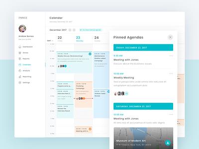 FFNCE - Calendar   Exploration report sales ui app minimal clean dashboard calendar date schedule agenda