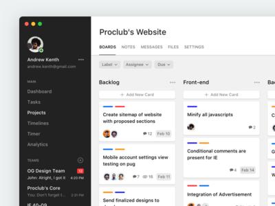 Project Management App - Boards management project kanban task dashboard