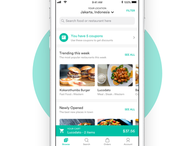 Browse Restaurants minimal browse clean app restaurant food
